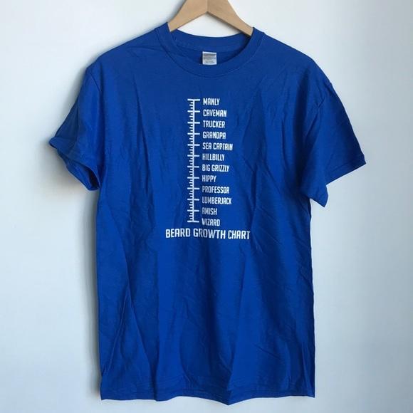 Gildan Shirts Beard Growth Chart Tshirt Poshmark
